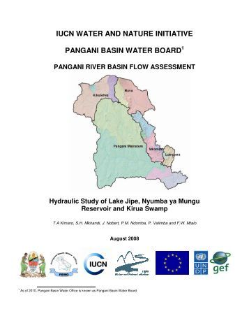 iucn water and nature initiative pangani basin water board
