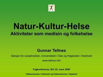 Naturaktiviteter og dyr som medisin og folkehelse