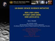 UN BASIC SPACE SCIENCE INITIATIVE BSS (1991-2004) IHY2007 ...