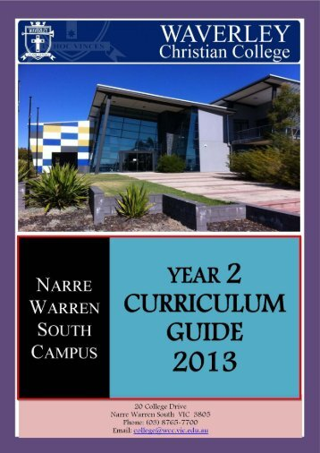 Year 2 Curriculum Guide - Waverley Christian College