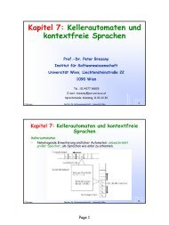 Kapitel 7: Kellerautomaten und kontextfreie ... - Universität Wien