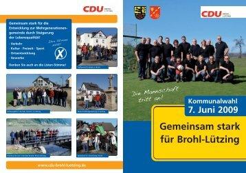 Verkehr · Kultur · Freizeit · Sport - CDU Brohl-Lützing