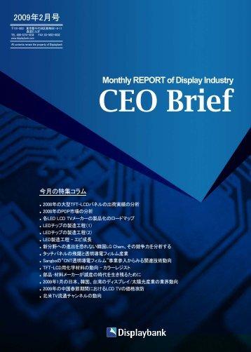 Monthly REPORT of Display Industry 2009年2月号 - Displaybank