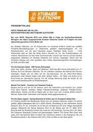 Pressetext herunterladen ( Deutsch ) - Stubaier Gletscher