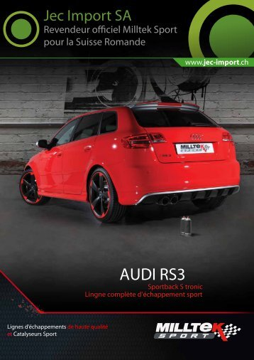 AUDI RS3 - Jec Import SA