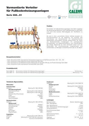 Vormontierte Verteiler für Fußbodenheizungsanlagen - Caleffi