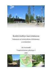 Kestävä kehitys kaavoituksessa – Vaikutusten ... - Hämeenlinna