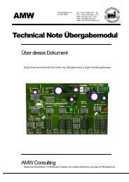 Technical Note Übergabemodul - AMW