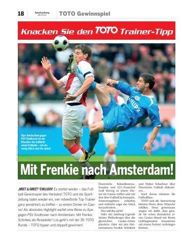 Mit Frenkie nach Amsterdam! - Sportzeitung