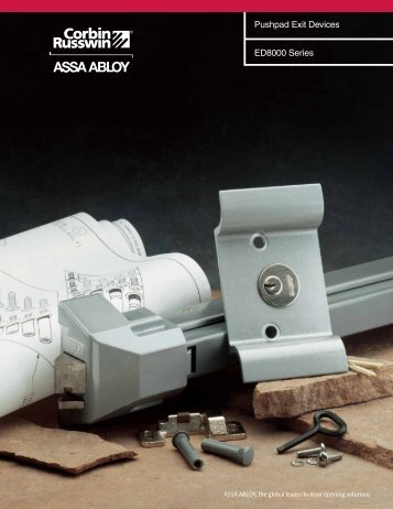 ED8200 and ED8200B Rim Exit Devices - Accredited Lock Supply