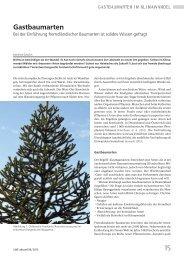 weiterlesen ... Gastbaumarten - Bayerische Landesanstalt für Wald ...