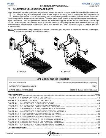 ricon magazines rh yumpu com Ricon K -Series Lift Ricon S-Series Lift Parts