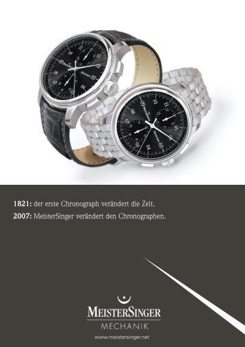 MeisterSinger verändert den Chronographen.