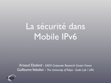 Arnaud Ebalard - EADS Corporate Research Center France ... - Sstic