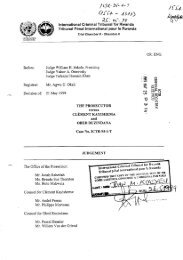 Case No. ICTR-95-1-T - International Criminal Tribunal for Rwanda