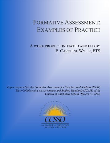 formative assessment: examples of practice - Council of Chief State ...