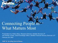 Connecting People to What Matters Most - IIR