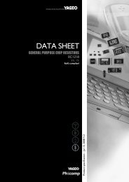 DATA SHEET - SOS electronic