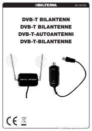DVB-T BilanTenn DVB-T BilanTenne DVB-T-auToanTenni ... - Biltema