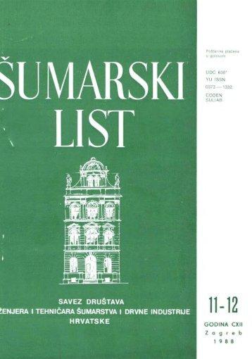 ÅUMARSKI LIST 11-12/1988