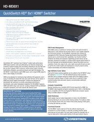 Product Specifications: HD-MD8X1 - Roche AV