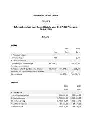Ricardo.de future GmbH Jahresabschluss per 30.06.2008