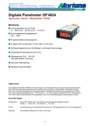DP4824-00- Prospekt - Martens Elektronik GmbH