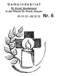 Gemeindebriet - Kath. Kirchengemeinde St. Knud Nordstrand