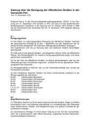 Satzung über die Reinigung der öffentlichen Straßen in der ... - Perl