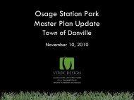 Osage Station Park Master Plan Update - Town of Danville