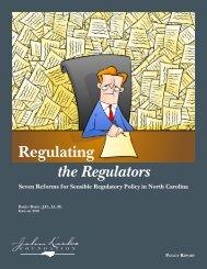 Regulating the Regulators - John Locke Foundation