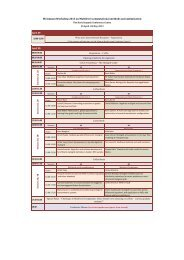 For detailed timetable please click here