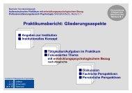 Praktikumsbericht - Institut für Pädagogische Psychologie