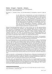 Politik - Drogen – Polemik – Wissen. - Institut Suchtprävention
