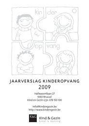 Kinderopvang 2009 - Kind en Gezin