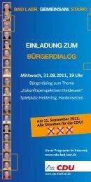Einladung zum Bürgerdialog Mittwoch, 31.08 ... - CDU Bad Laer