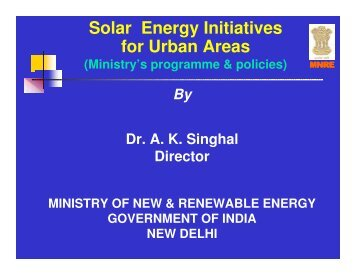 Solar Energy Initiatives for Urban Areas - Local Renewables