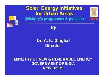 Solar Energy Initiatives for Urban Areas - Local Renewables