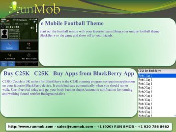 e Mobile Football Theme Buy C25K C25K Buy Apps from ... - RunMob