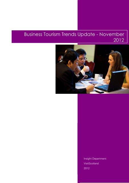 Business Tourism Trends Update - Scottish Convention Bureau