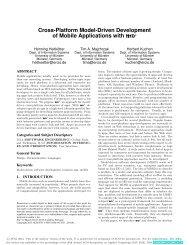 Cross-Platform Model-Driven Development of Mobile Applications ...