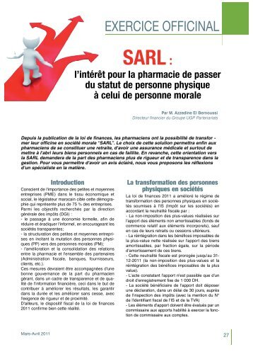 SARL - Pharmacies.ma