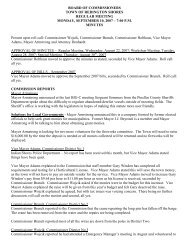Monday, September 10, 2007 - 7:00 p.m. - Town of Redington Shores