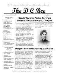 Carrie Townley Porter Portrays Helen Stewart on May 5, 1:00 pm