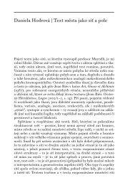 Text města jako síť a pole - Ústav pro českou literaturu AV ČR, vvi
