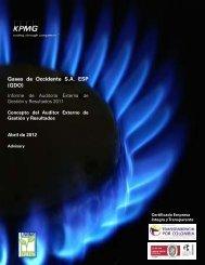 Gases de Occidente SA ESP (GDO) - Sistema Unico de Informacion ...