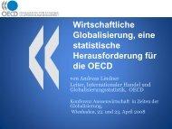 Wirtschaftliche Globalisierung, eine statistische ... - RatSWD