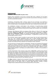 PRESS RELEASE FIANDRE AT CERSAIE 2009: the green choice ...