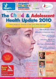 The Child & Adolescent Health Update 2O1O