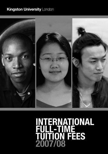 IntFees 2007-08 v2.qxd - Kingston University